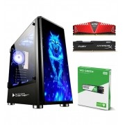 Computador Gamer AM4 A8 9600 APU R7 - Memória 8GB DDR4 - SSD WD GREEN M.2 240GB - GABINETE GAMER Bluecase