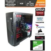 Computador - PC Gamer Amd 6th Gen Pro A8 8650b APU R7 3.2GHz (Turbo 3.9) 4gb + HD SSD + Acessórios