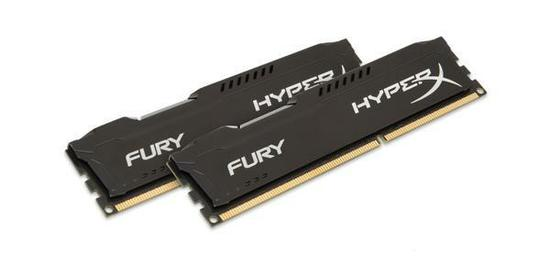 Memória 4gb KINGSTON HyperX Fury Black 1600MHZ