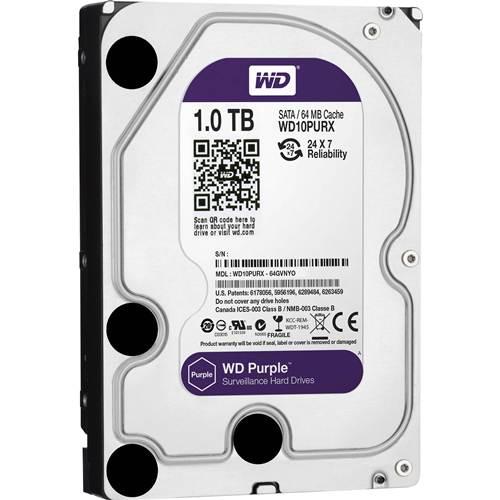 HD 1TB Western Digital WD Purple Intelbras Surveillance Hard Drive