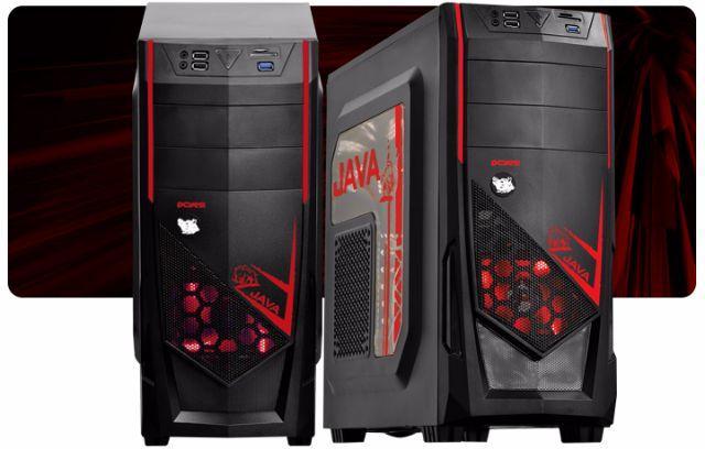 Gabinete ATX S/Fonte 2B Gamer Java PCYES