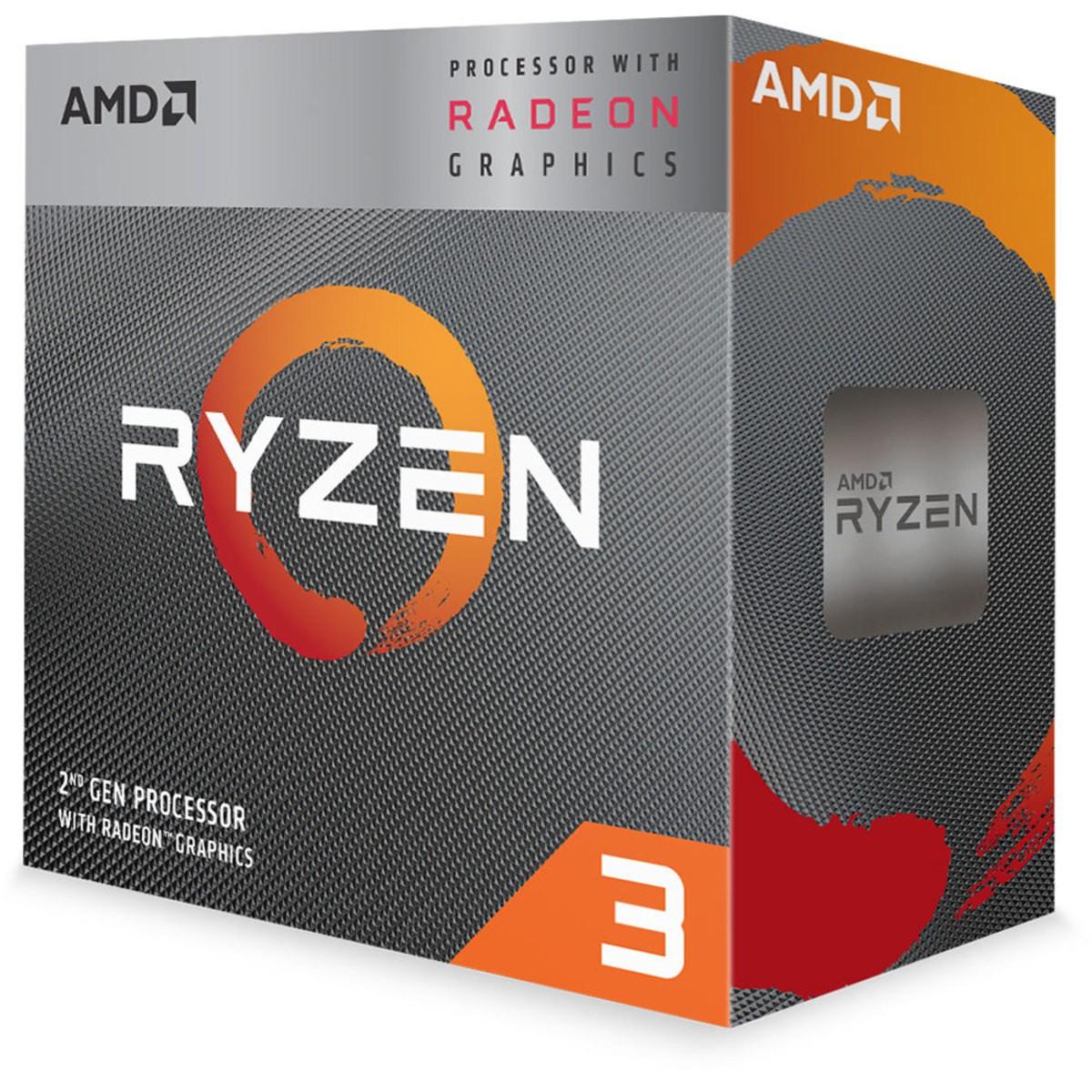 Computador Gamer Amd AM4 Ryzen 3 3200G Radeon Vega Graphics 8 - Memória 8GB DDR4 SSD M.2 240GB WD Green Gabinete Gamer BG-026 Com Cooler