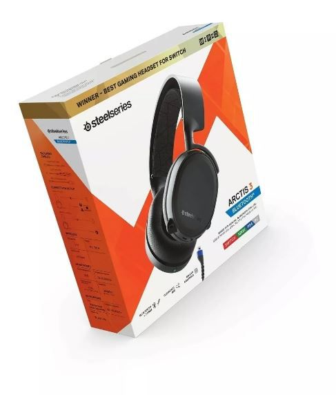 Headset Arctis 3 Bluetooth Steelseries Stl-61509 2019 Preto