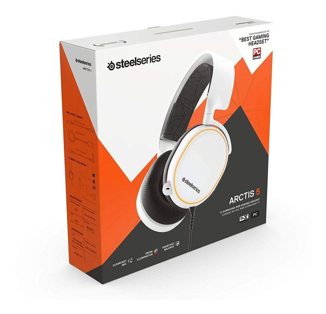 Headset Steelseries Arctis 5 Branco 2019 Stl-6150