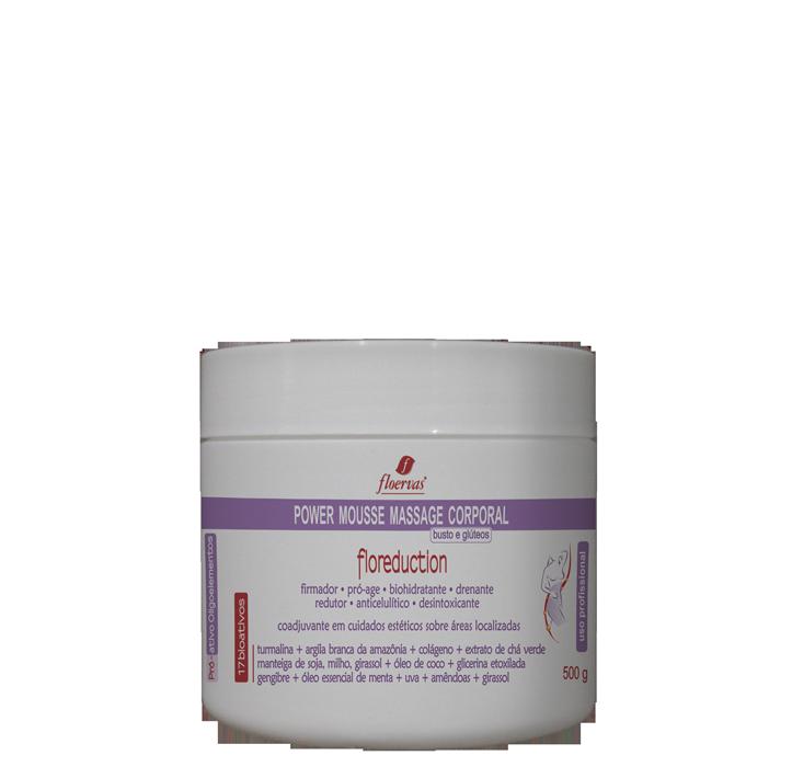 Cód. P780 - Power Mousse Massage ( busto e glúteo) - 500  ml