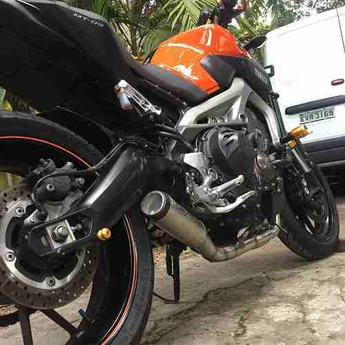 Ponteira Escape Gp Tech Inox Full 3x1 - Yamaha Mt-09