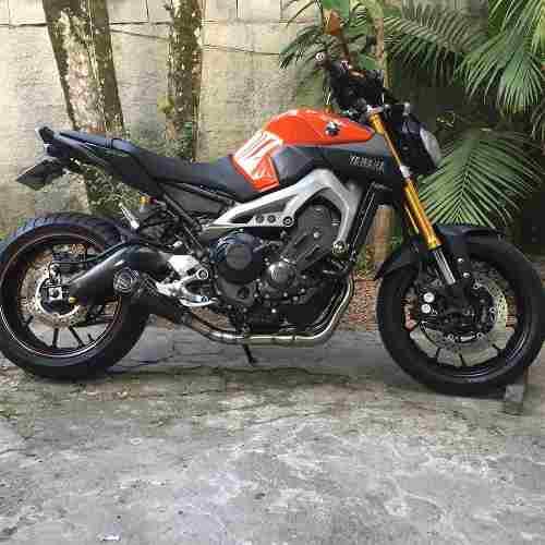 Ponteira Escape Shark Gp920 Carbon Full 3x1 - Yamaha Mt-09