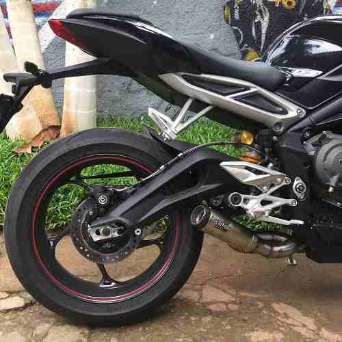 Ponteira Escape Gp Tech Inox Street Triple 765 Rs/s