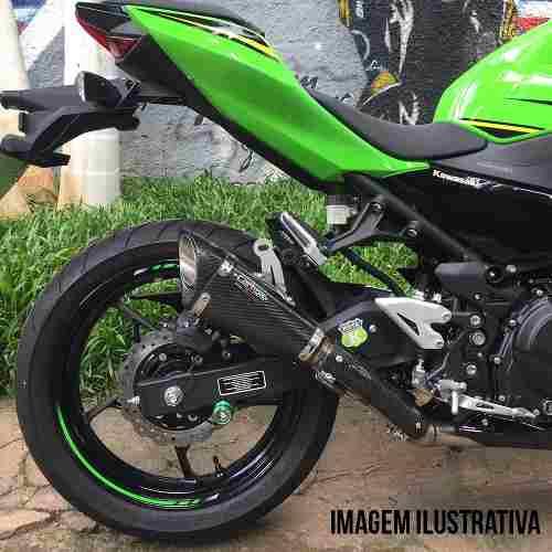 Ponteira Escape Scorpion Gp720 Carbon Full 2x1 - Ninja 400