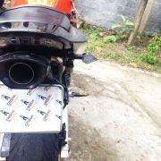 Ponteira C/ Eliminador Shark Carbon Honda Cbr 600 Rr 04 A 06