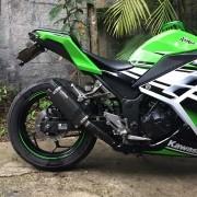 Ponteira Esportiva V8 Carbon Kawasaki Ninja 300 / Z300 Todas