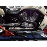 Protetor De Escapamento Harley V-rod Muscle Fibra De Carbono
