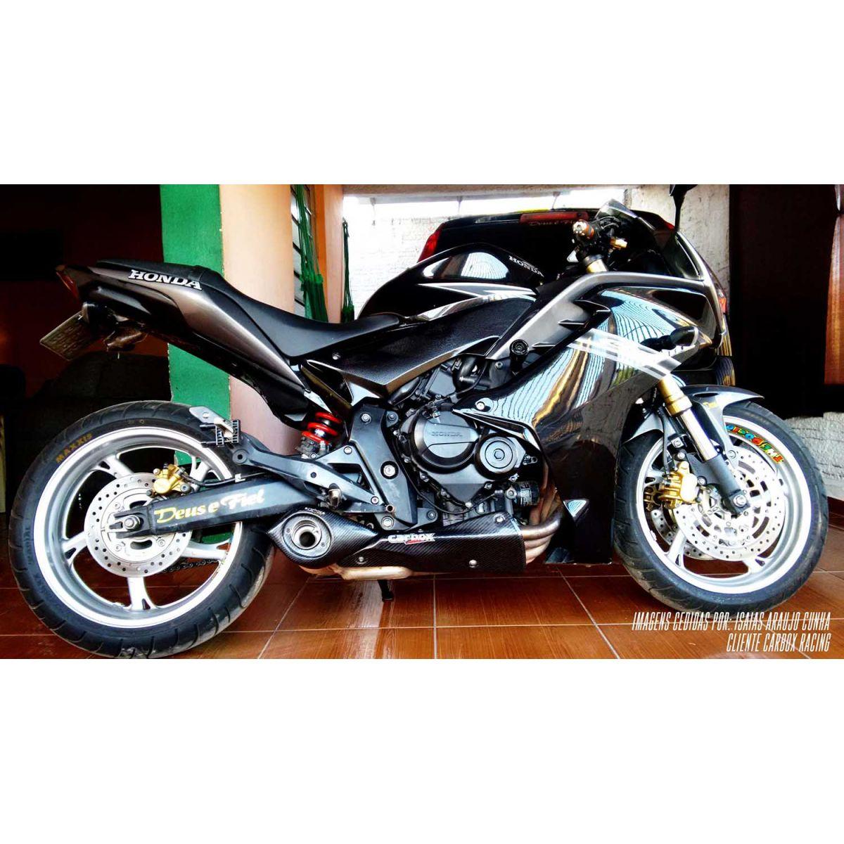 Ponteira Esportiva No Muffler Carbon CBR600F