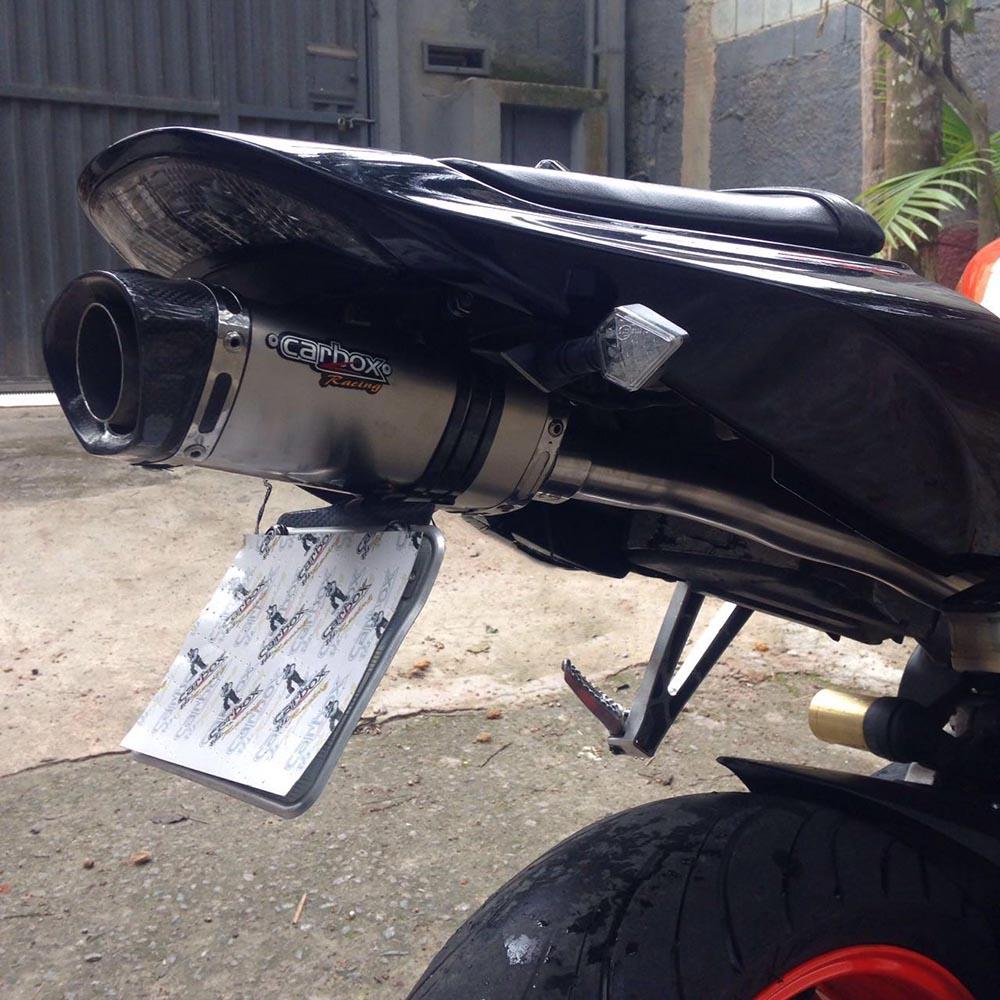 Ponteira C/ Eliminador Shark Inox Honda Cbr 600 Rr 04 A 06