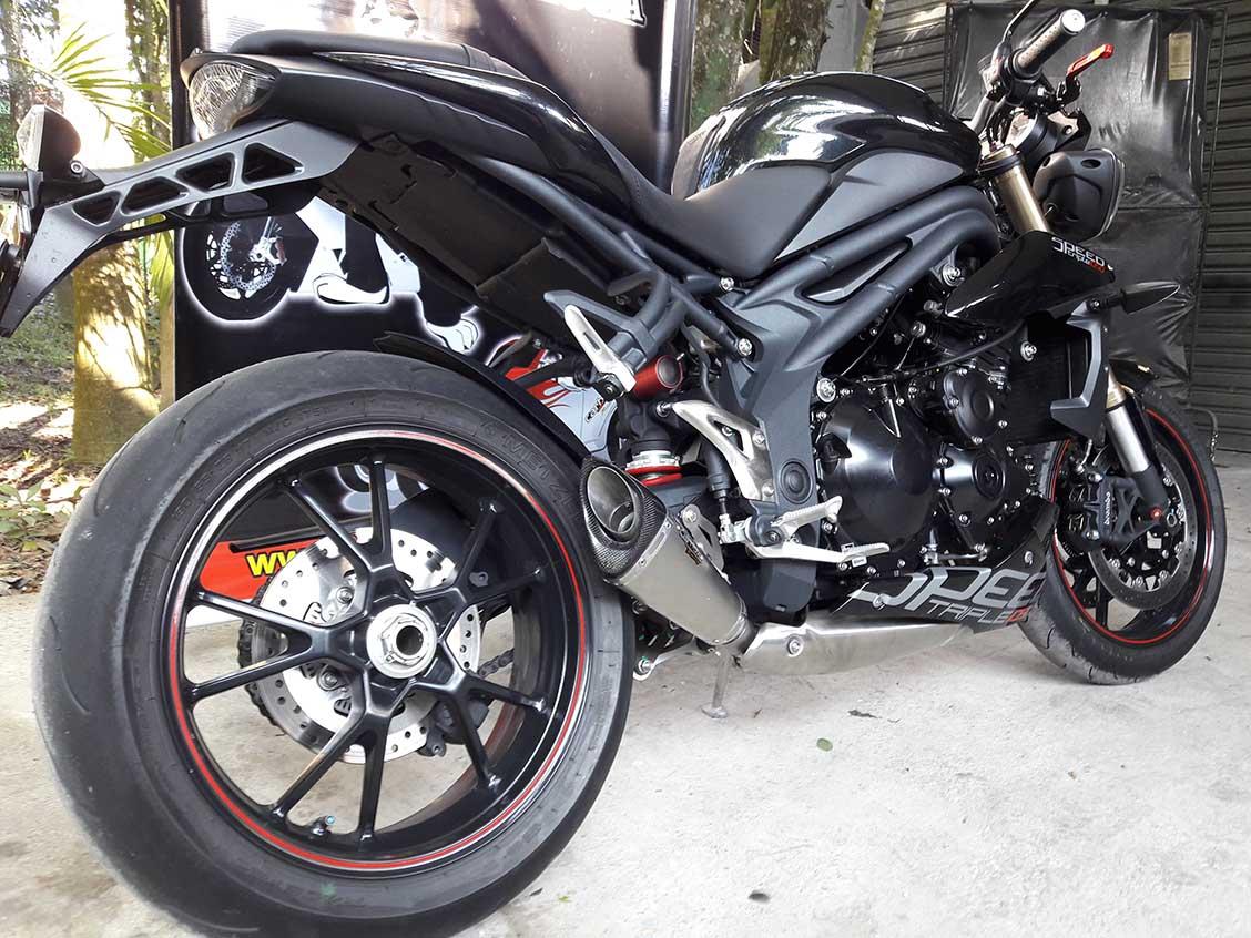 Ponteira Esportiva Scorpion GP 720 Inox  Triumph Speed Triple 1050