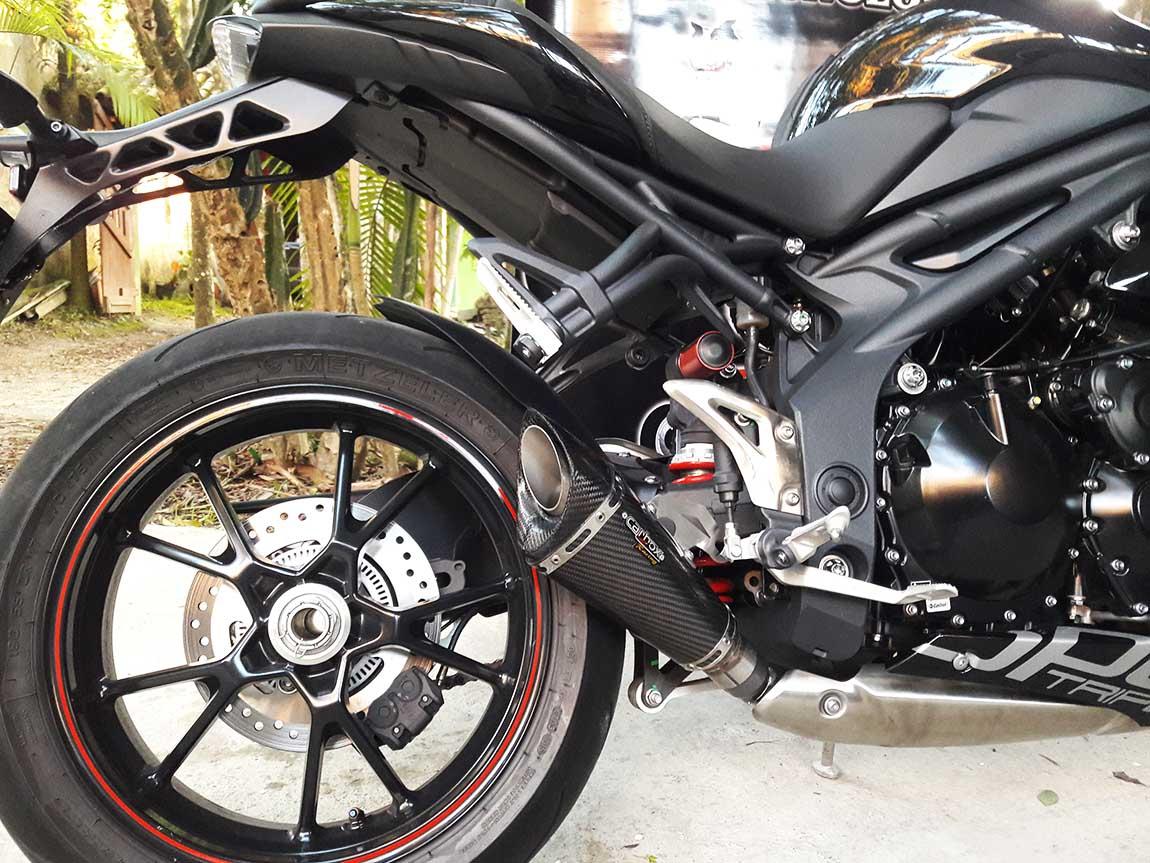 Ponteira Esportiva Scorpion GP 720 Carbon  Triumph Speed Triple 1050