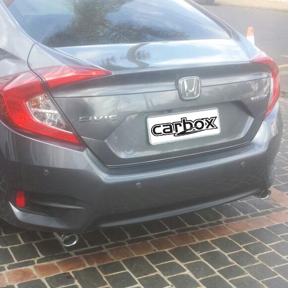 Ponteira Dupla Escape Elite Aluminium Civic Geração 10 Turbo Touring