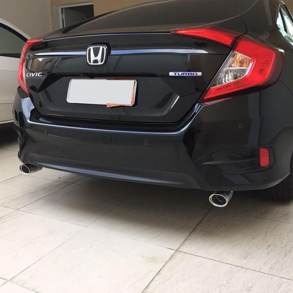 Ponteira Dupla Escape Elite Carbono Civic Geração 10 Turbo Touring