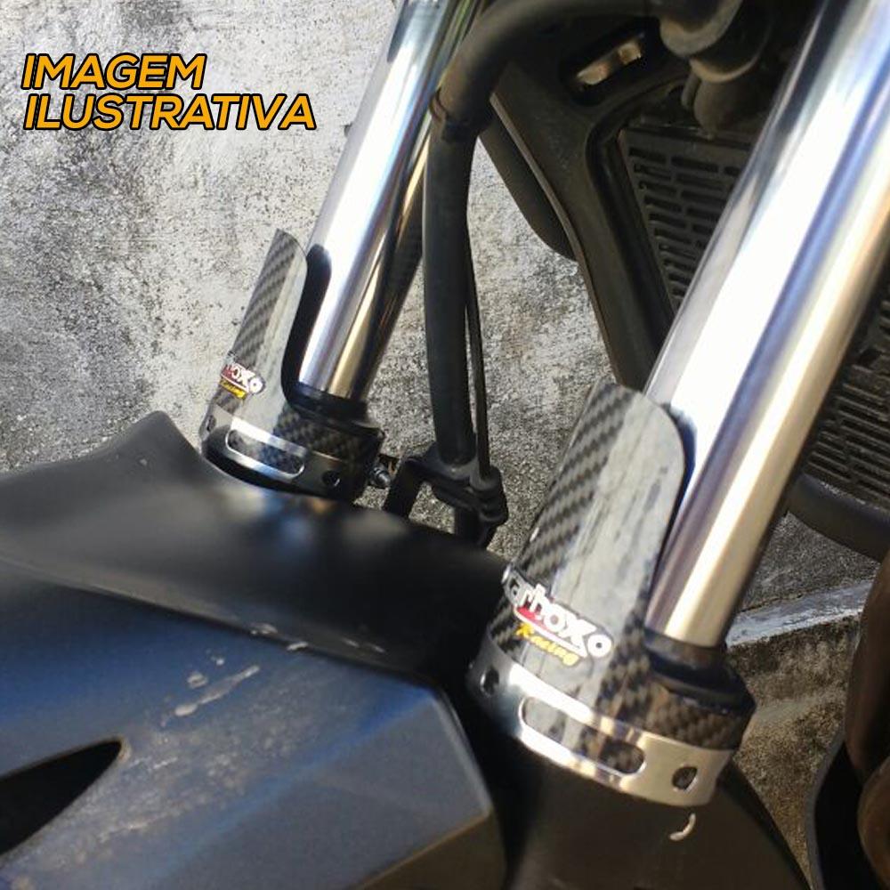 PROMOÇÃO BMW G 650 GS Ponteira Shark Inox + Protetor de Bengala