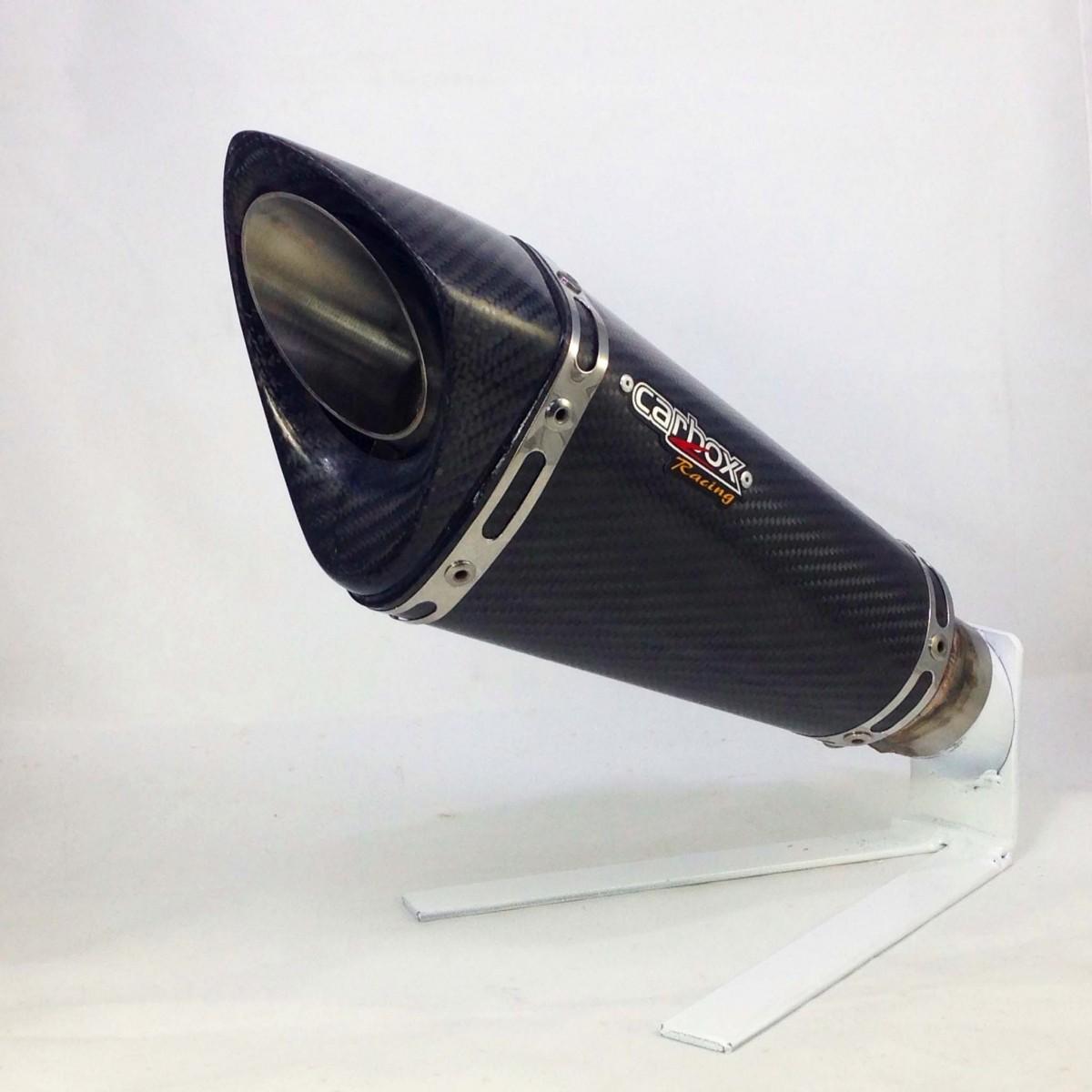 Ponteira Esportiva Scorpion GP 720 Carbon  Triumph Street Triple 675 R