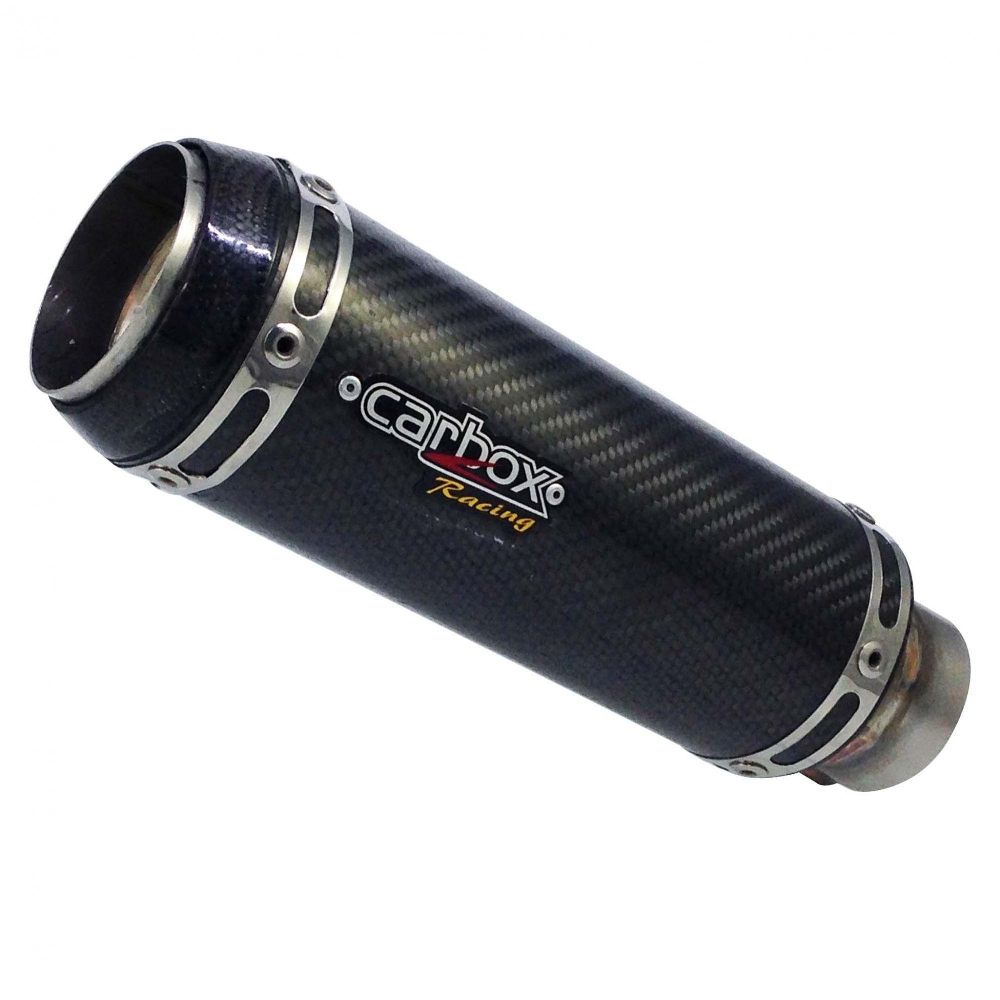 Ponteira Escapamento Gp Tech Carbon Full 2x1 Cima - Cb1000r