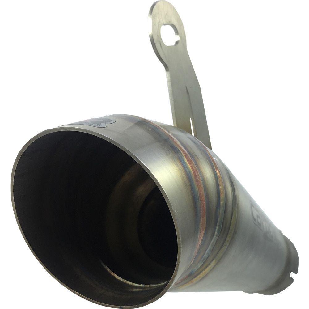 Ponteira Escape Megafone Inox Full 4x2x1 - Hornet Cb600