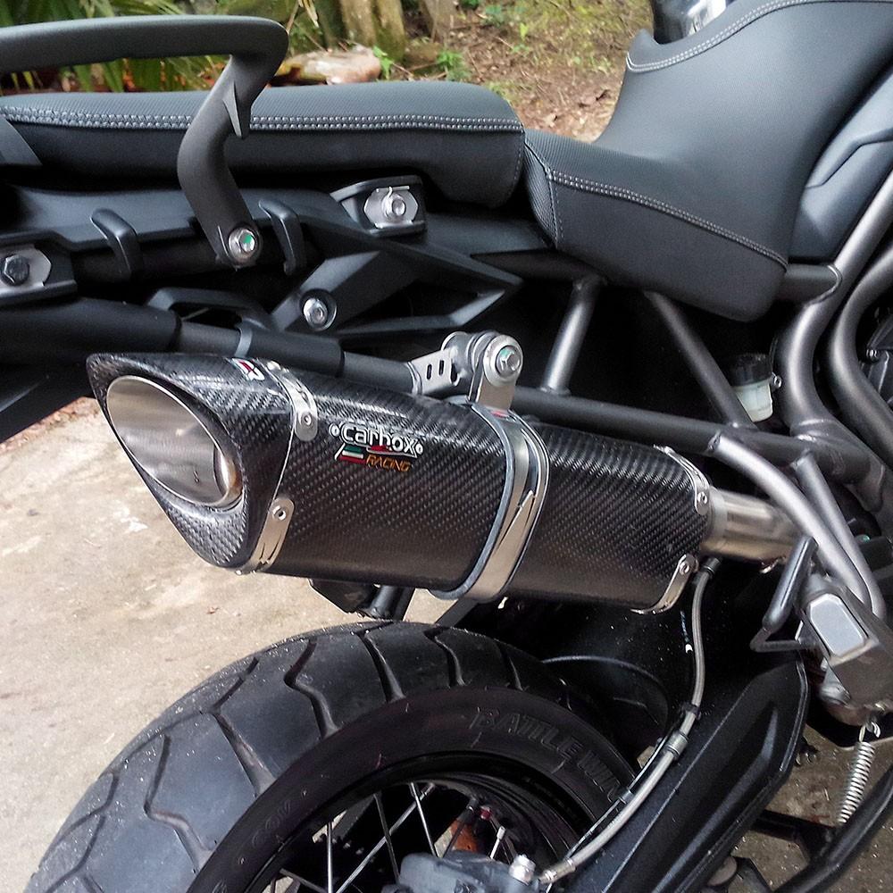 Ponteira Escape Scorpion S735 Carbon - Triumph Tiger 800
