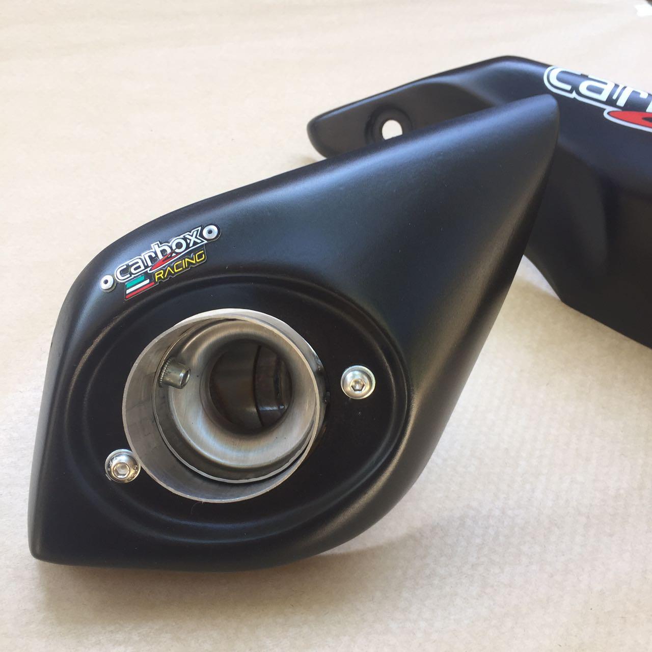 Ponteira No Muffler Black Triumph Speed Triple 1050 Carbox