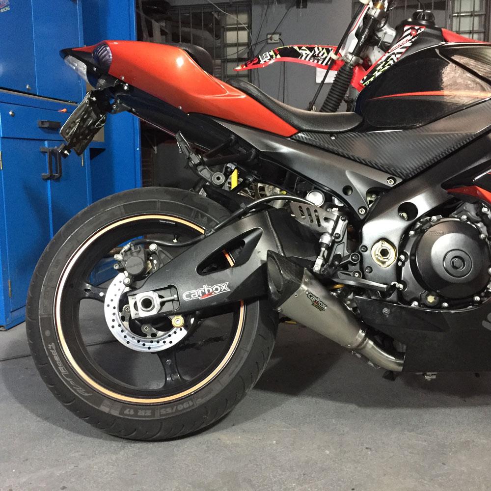 Ponteira Scorpion GP720 Inox p/ Suzuki SRAD GSXR1000 2007 a 2010
