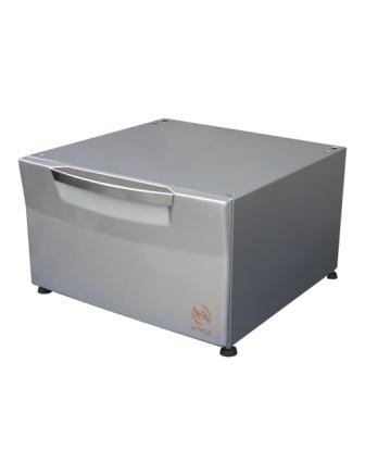 Pedestal Amiga Cor Prata Compatível com Lava e Seca LG de 8,5 Kg e 10,2Kg