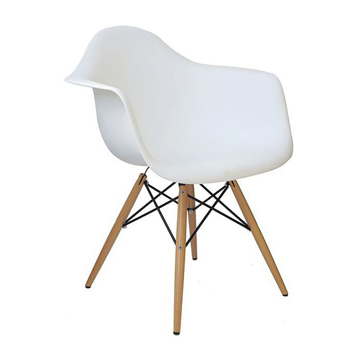 Cadeira Charles Eames Branca c braço
