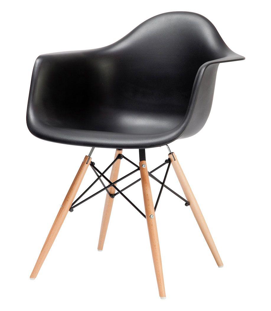 Cadeira Charles Eames c/ braço Preta