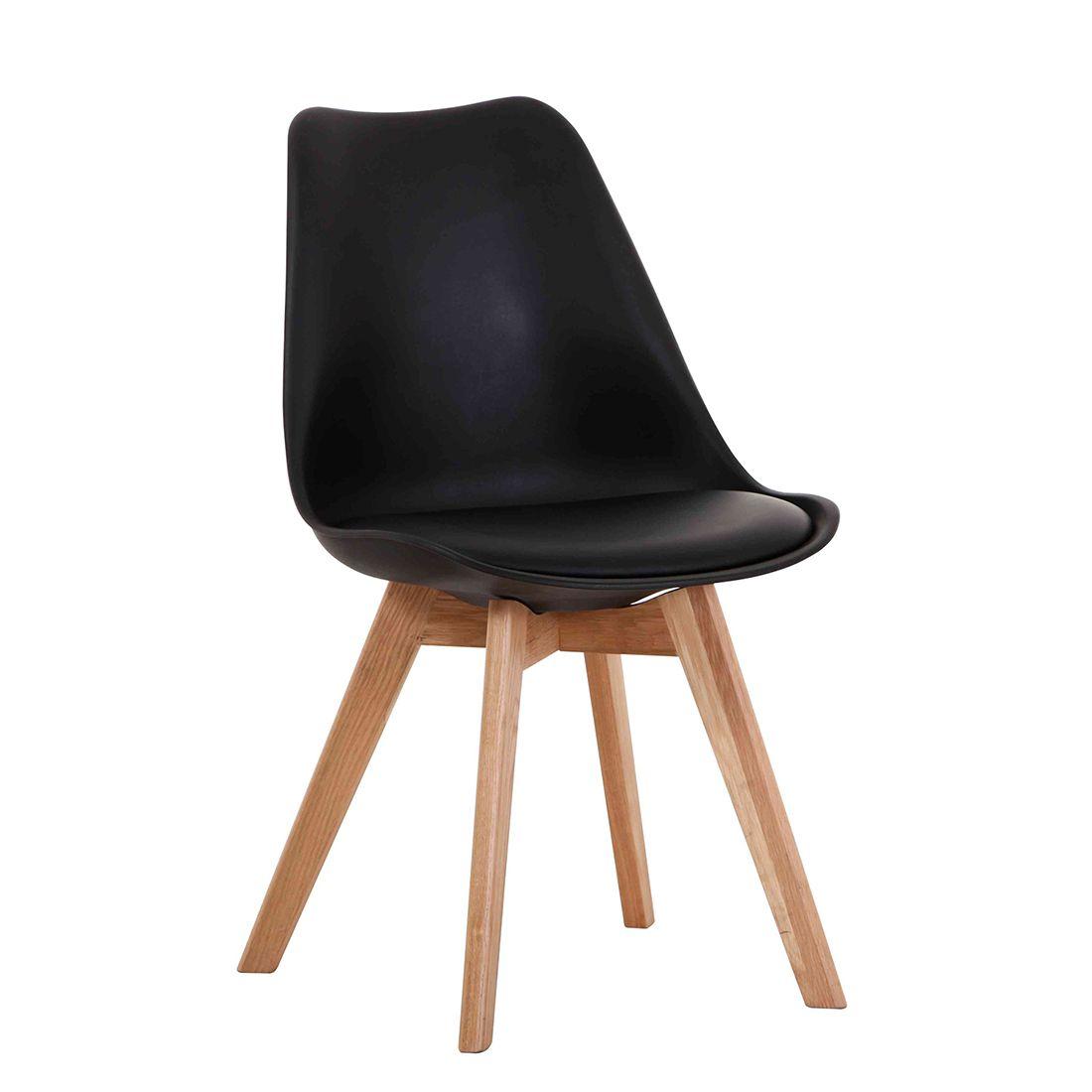 Cadeira Charles Eames Wood Leda Preta