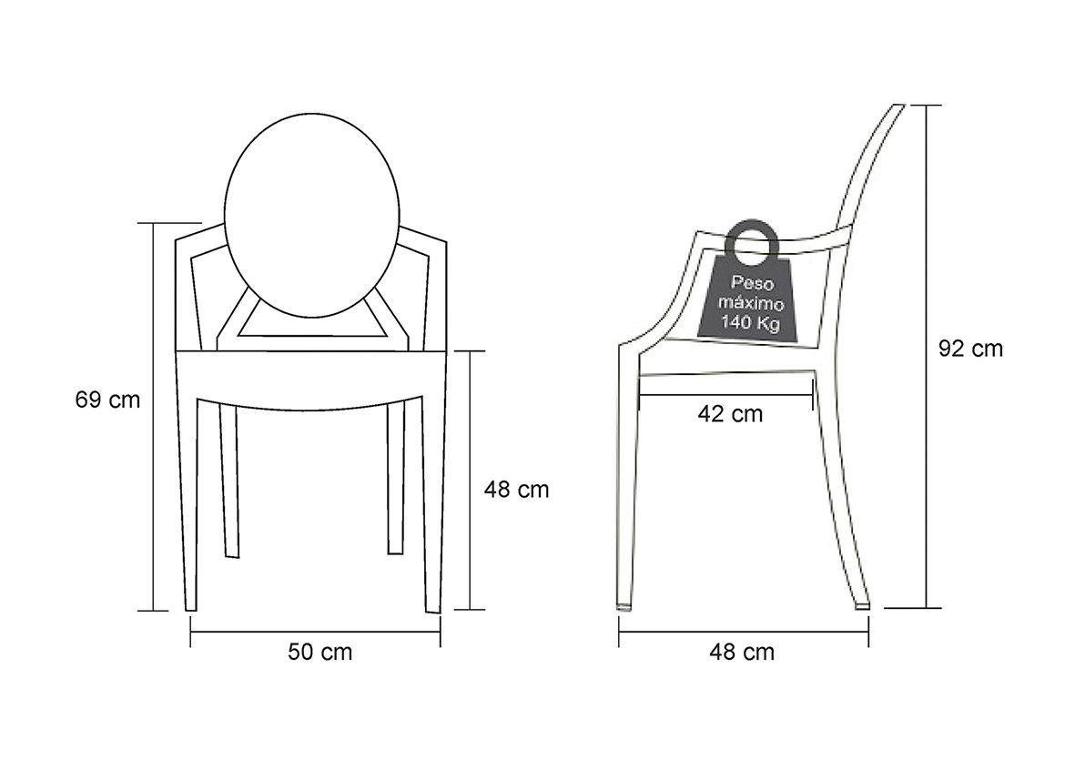 Cadeira Policarbonato Preta