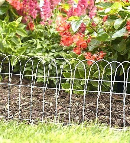 Cerca Decorativa Jardim Branca 0,65 X 10 M