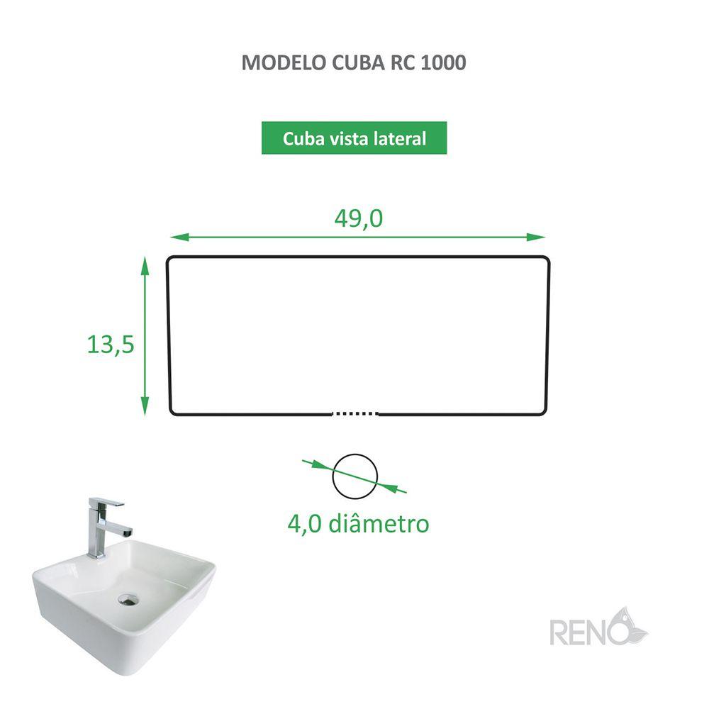 Cuba de Apoio Cerâmica Reno RC 1000