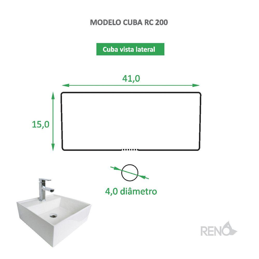 Cuba de Apoio Cerâmica Reno RC 200