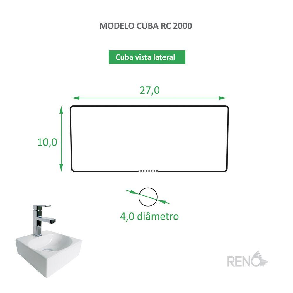 Cuba de Apoio Cerâmica Reno RC 2000