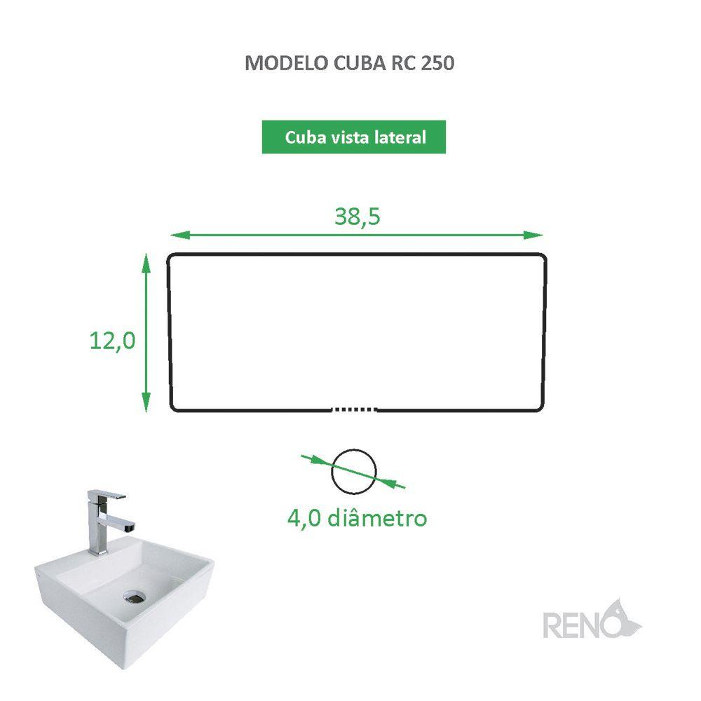 Cuba de Apoio Cerâmica Reno RC 250