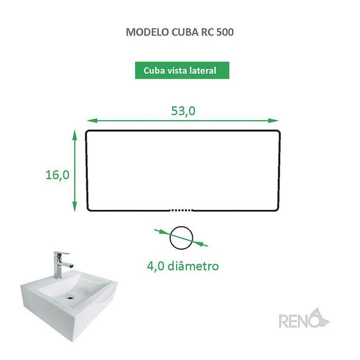Cuba de Apoio Cerâmica Reno RC 500
