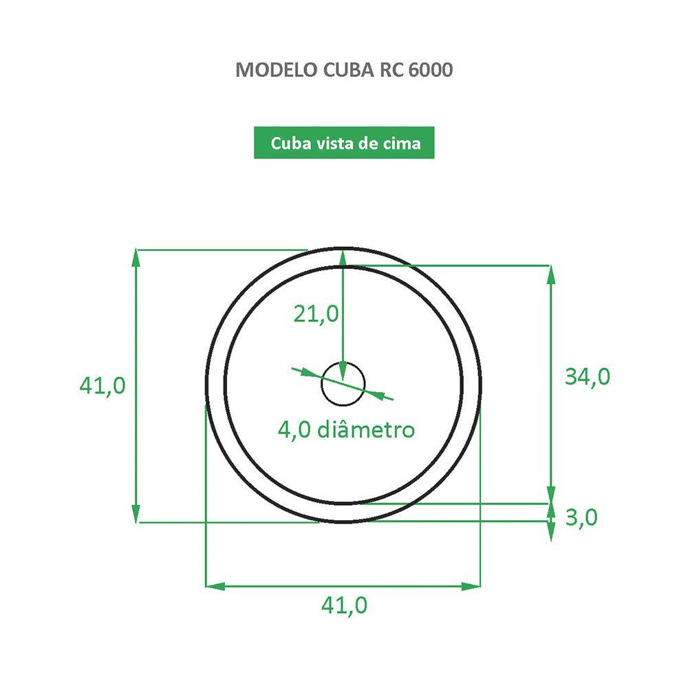 Cuba de Apoio Cerâmica Reno RC 6000