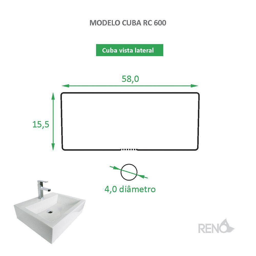 Cuba de Apoio Cerâmica Reno RC 600