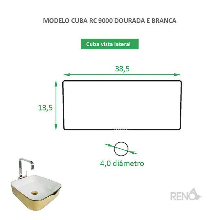 Cuba de Apoio Cerâmica Reno RC 9000