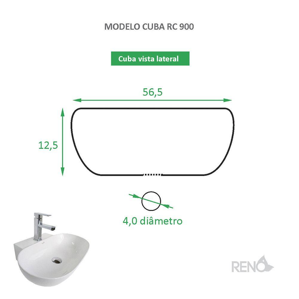 Cuba de Apoio Cerâmica Reno RC 900