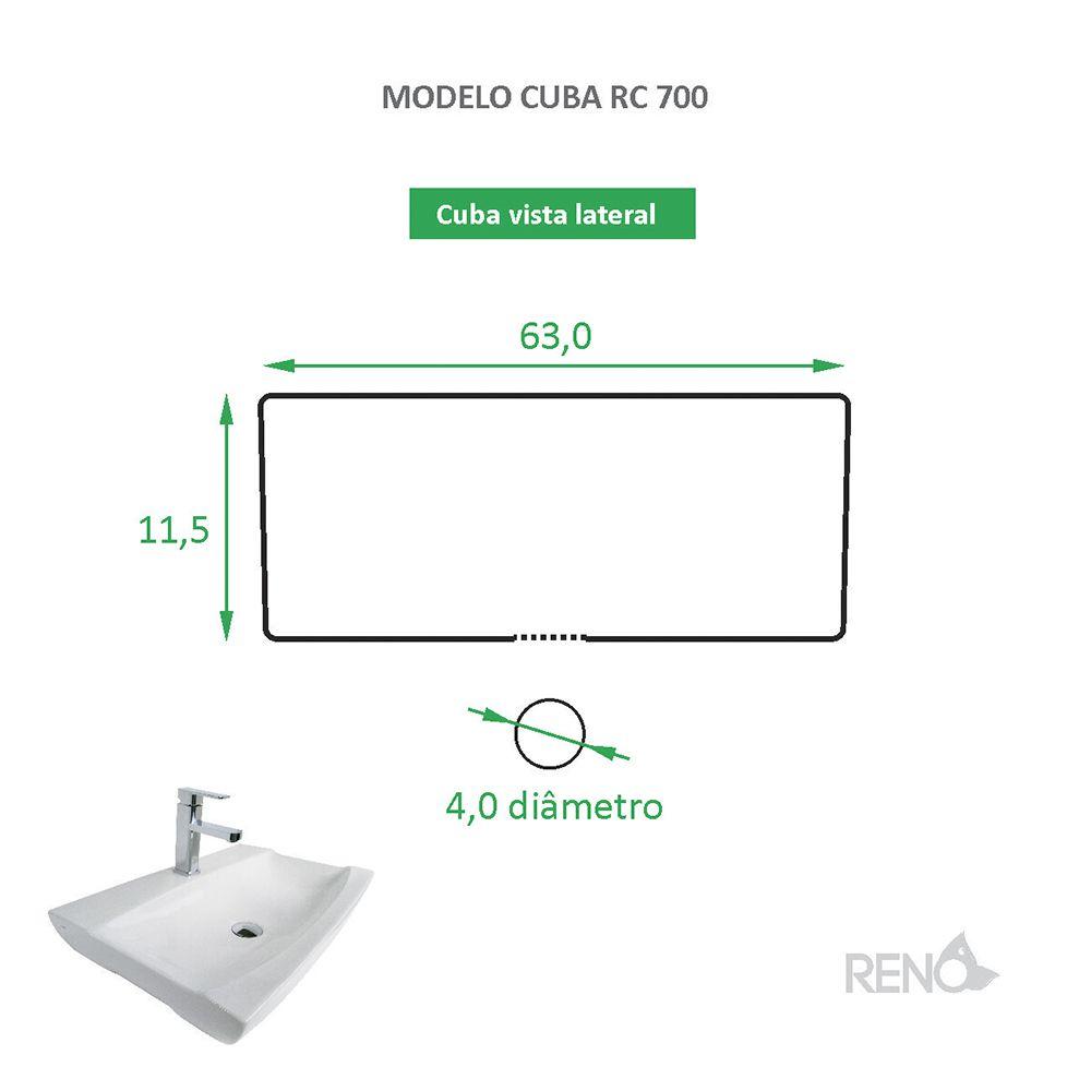 Cuba de Apoio Cerâmica Reno RC 700