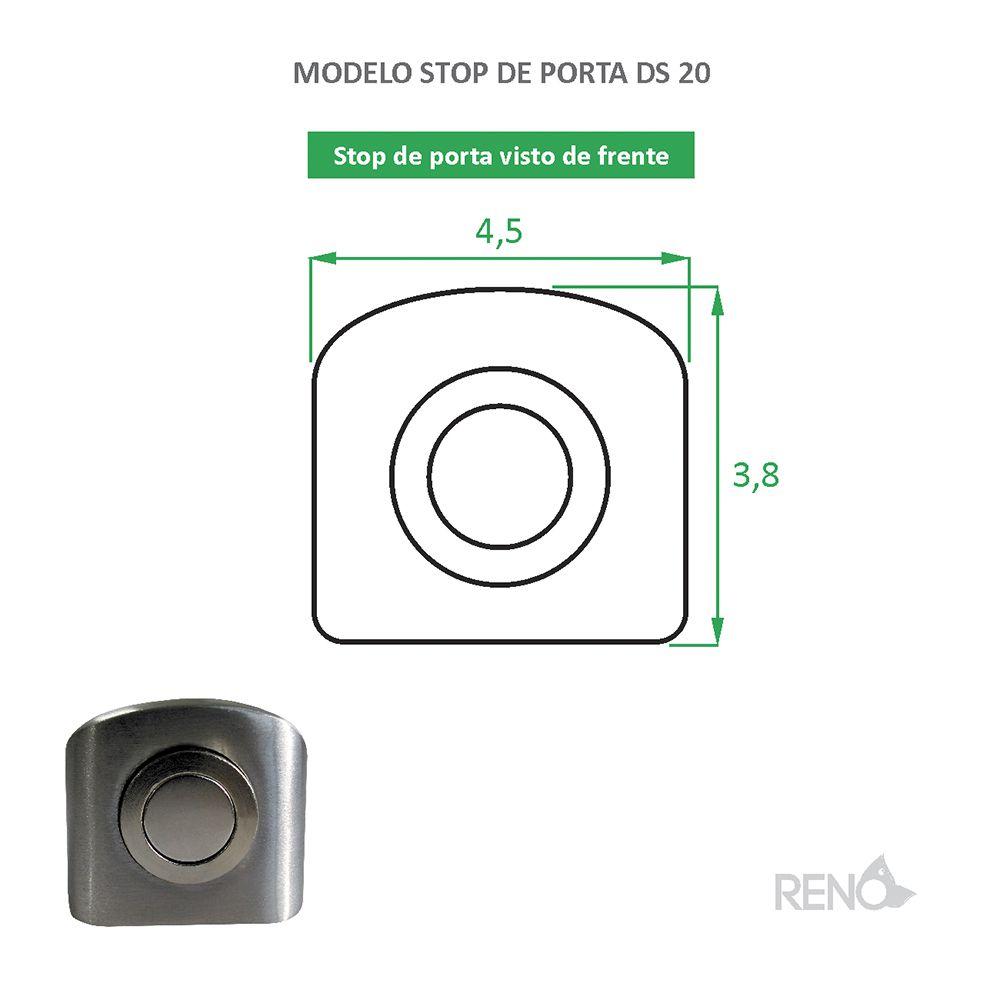 Parador de Porta Inox magnético DS 20