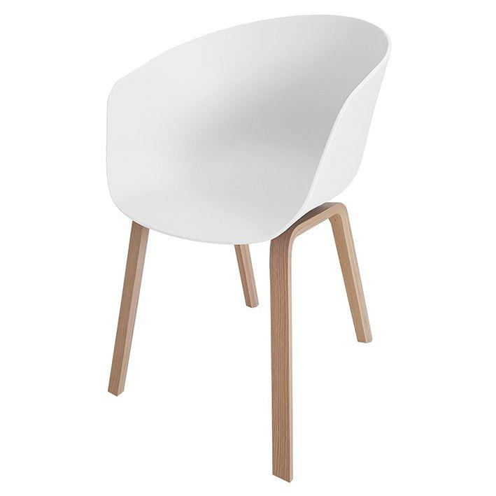 Poltrona Wood Cinza / Branca / Preta
