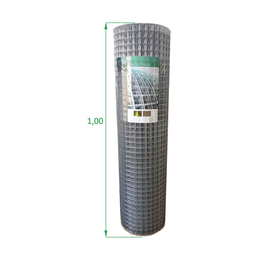 Tela Soldada - 1,00 x 25 m Fachada - Malha 2,5 x 2,5 cm