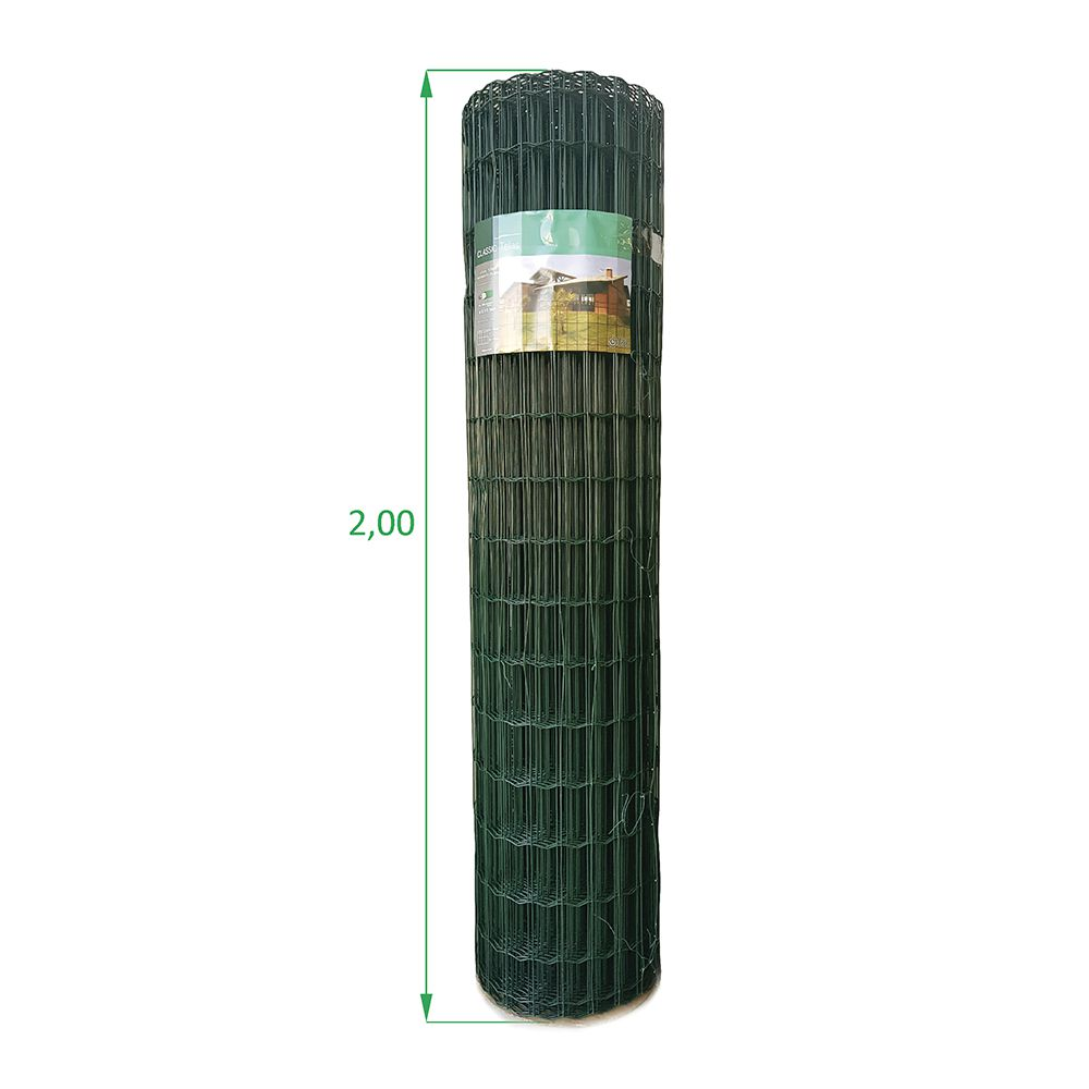 Tela Soldada e Revestida em PVC - 2,00 X 25 m