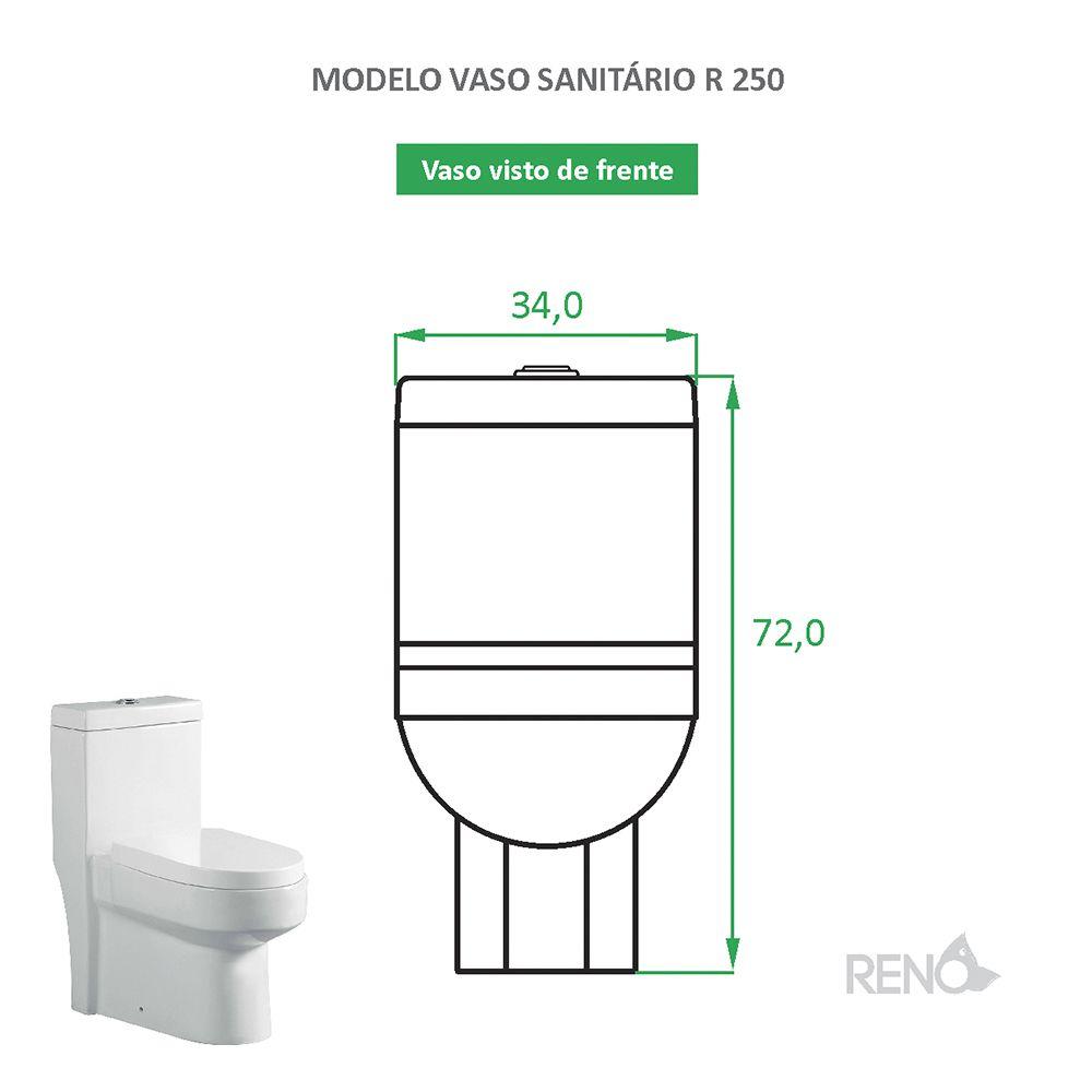 Vaso Sanitário Caixa Acoplada Reno R 250